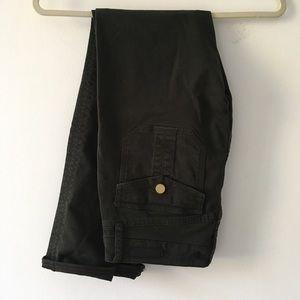Dark olive skinny jeans